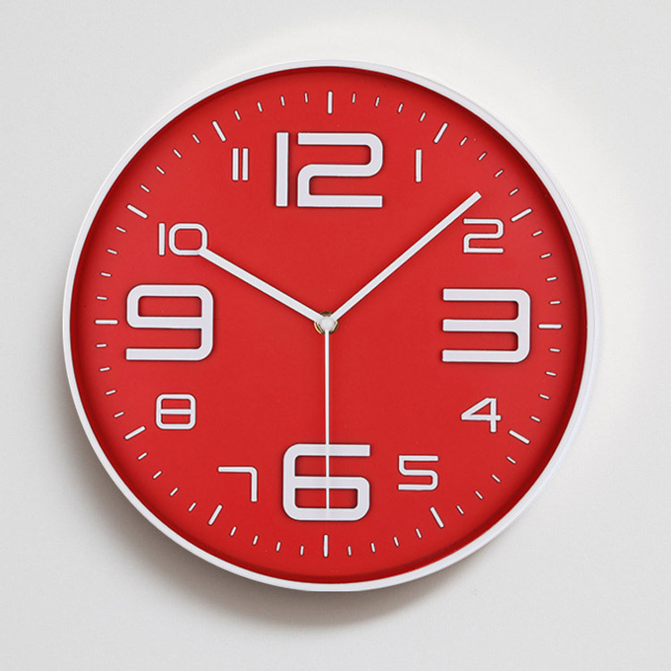 12 Inch Mute Originality Wall Clock Living Room Clocks And Watches Modern Concise Fashion Bedroom Quartz Clock Wag-On-The-Wall