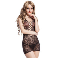 HW3012 Black White Transparent Bodystockings Lace Hollow Out Ropa Sexy Mujer Erotica Sex Product Sleeveless Bodysuit