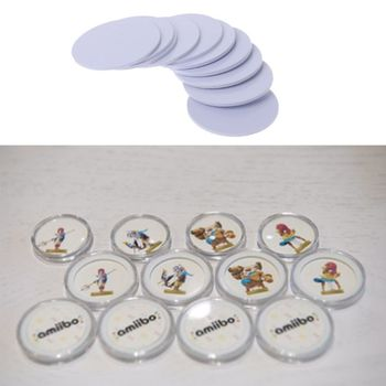 10PCS Ntag215 NFC Tags Sticker Phone Available Adhesive Labels RFID Tag 25mm 1