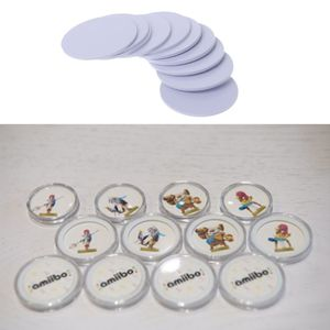 Image 1 - 10PCS Ntag215 NFC Tags Sticker Phone Available Adhesive Labels RFID Tag 25mm