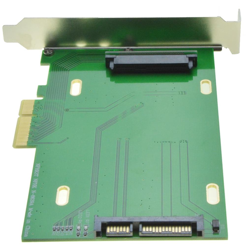 цена на PCI-Express 3.0 4x Lane to U.2 Kit SFF-8639 Adapter for Intel Motherboard 750 NVMe PCIe SSD PCI-e to U2 Card
