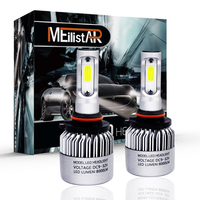 S2 72W 9005 HB3 COB LED Headlight Bulbs Conversion Kit 8000LM 6500K Single Beam All In