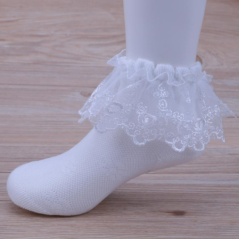 3 Pairs/set Cute Baby Girls Cotton Lace Ruffle Socks Children Spring Summer Socks Kids Girls Soft Anti Slip Princess Floor Socks