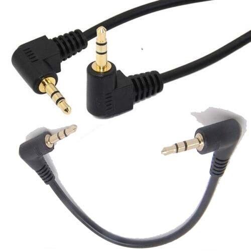 27cm 3,5mm Doppel Rechten Winkel Männlichen Jack Aux Stereo Audio Stecker Adapter Kabel neue