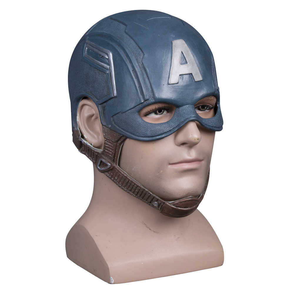 Captain America Civil War Helmet Mask Latex Cosplay Steven Rogers Halloween Helmet For Collection Party