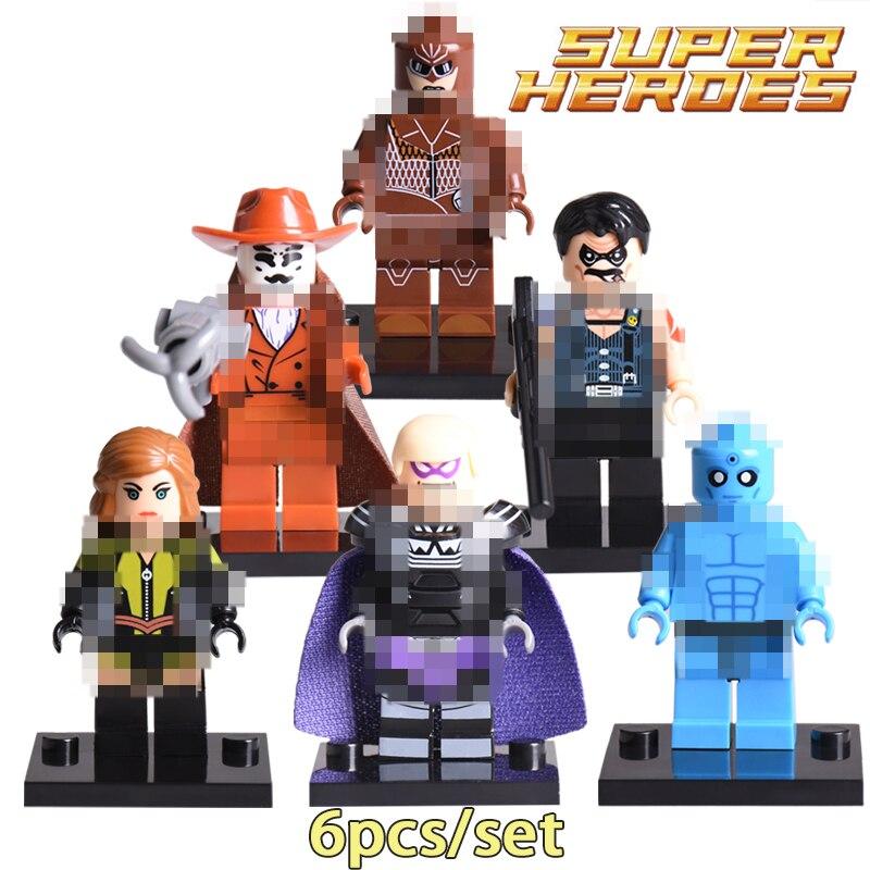 Rorschach Doctor Manhattan Pharaoh Owlman Comedian figures Superhero Watchmen Building Blocks Avengers Bricks kids Toys Hobbies