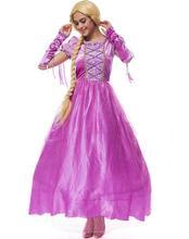 Noble palacio europeo adultos larga rapunzel dress disfraces queen dress blancanieves princesa cosplay disfraces de halloween para las mujeres