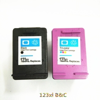 Vilaxh compatible For HP 123 Ink Cartridge Replacement For HP 123 xl 123xl Deskjet 1110 2130 2132 2133 3630 3632 Printer