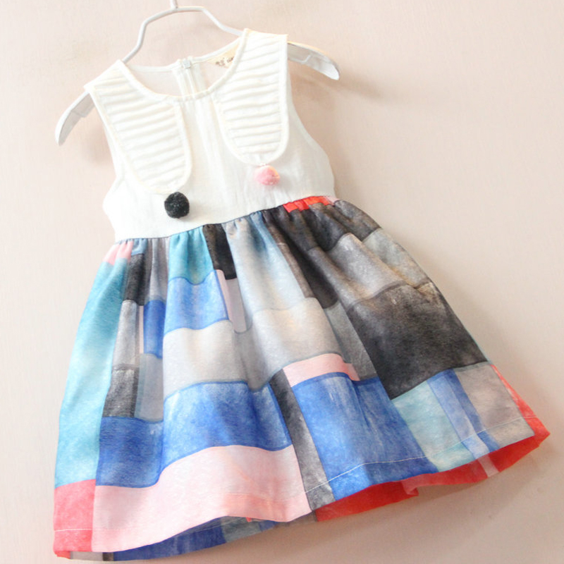 fashion girl dress kids clothing princess children clothes pattern new summer vestidos