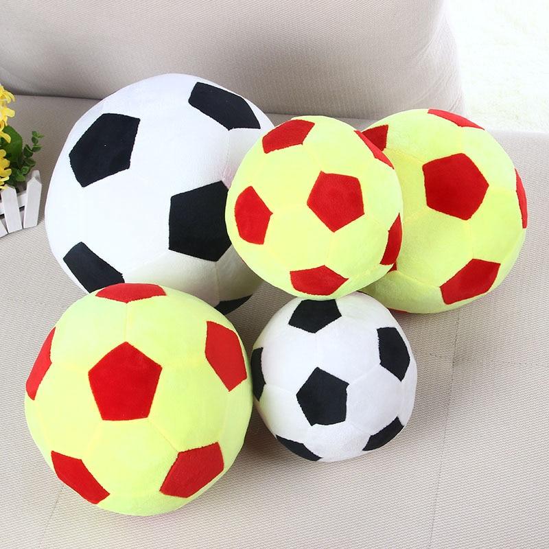 Zwart Wit Voetbal Vorm Kussen Kussen Voetbal Kussen Wk Gevulde Kids Pluche Pop Speelgoed Cadeau Voor Kinderen Cojines