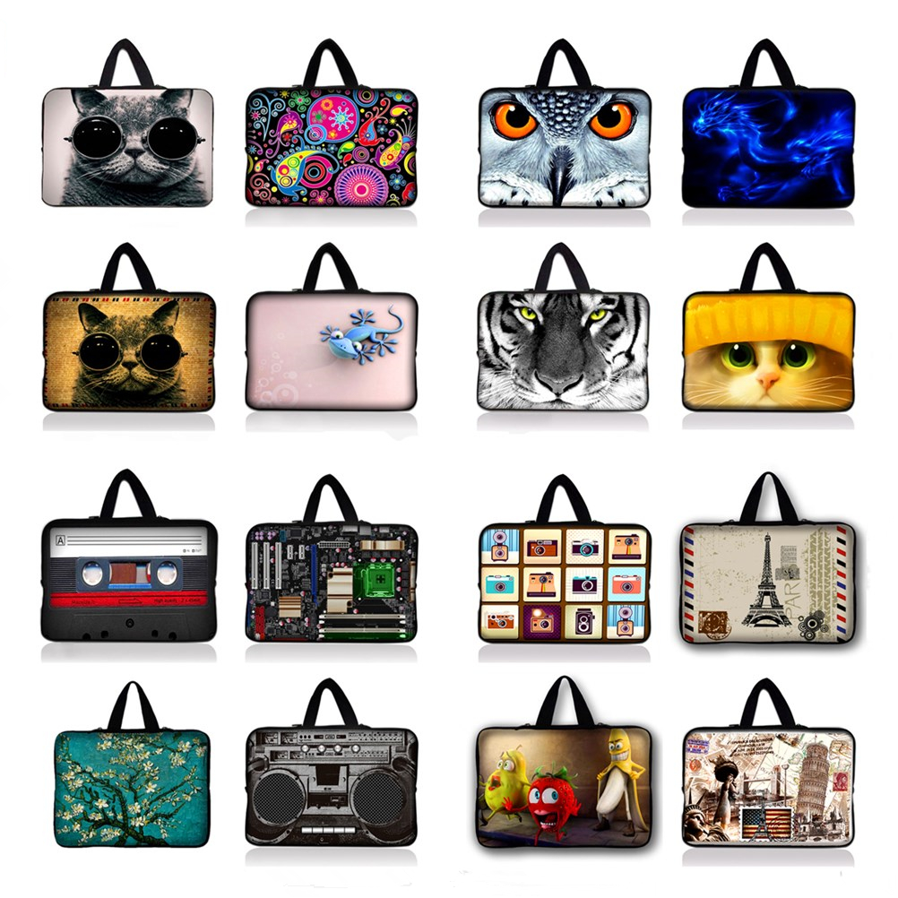 Neoprene Laptop Sleeve Case Cover For 7 8 10 12 13 15 17 17.3 inch 14.1 Notebook Netbook Mini PC Capa Para Notebook 15.6 13.3