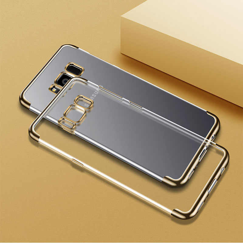 Ultra Thin Cover for Samsung Galaxy A3 A5 A7 A8 J3 J5 J7 2016 2017 2018 S8 S9 Plus S7 S6 Edge Note8 Plating Silicone Silm Cases