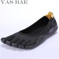 Yas Bae Heißer Verkauf China Marke Design Gummi mit Fünf Finger Outdoor Rutschfeste Atmungs Licht gewicht Schuh für Männer