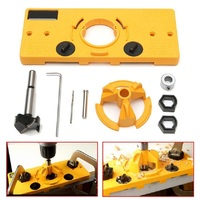 35MM Cup Style Hinge Drilling Guide Woodworking Hole Locator Jig Drill Guide For Carpenter Woodworking DIY Kreg Tools