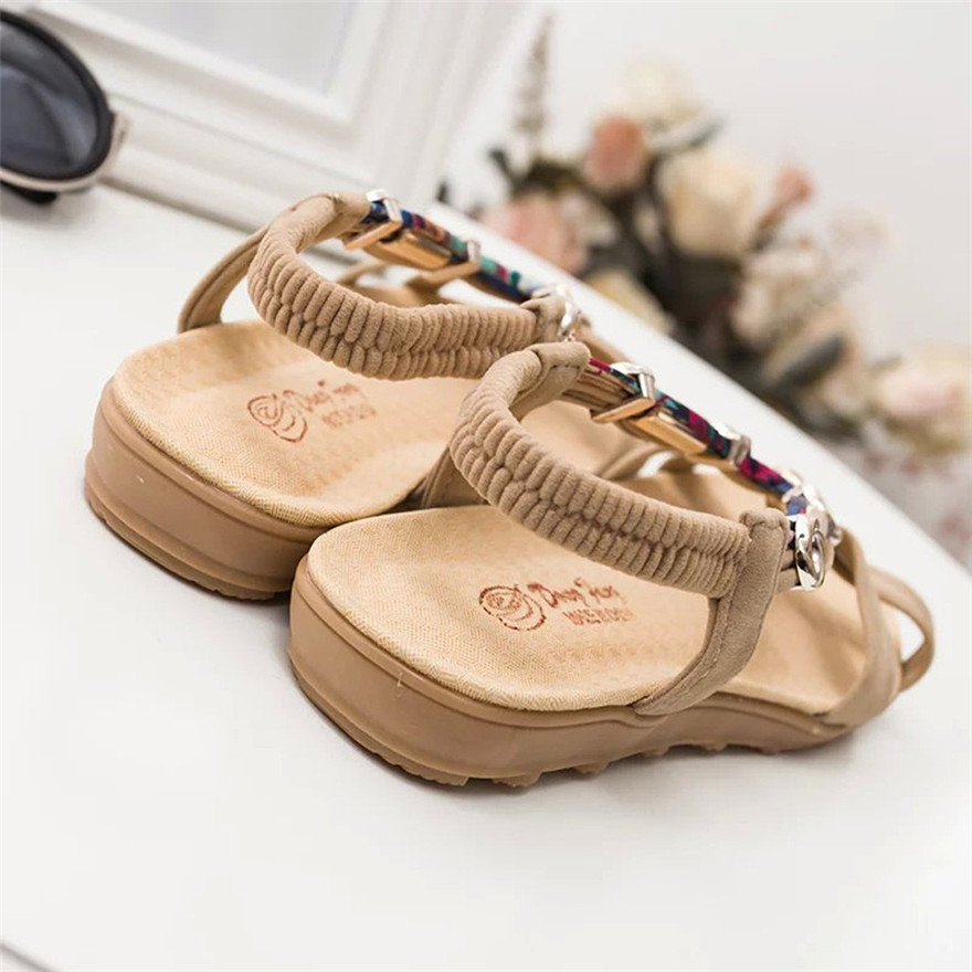 Women Fashion Summer Sandals Shoes Peep-toe Low Shoes Roman Sandals Ladies Flip Flops sandalias mujer 2018 zapatos mujer women gladiator sandals 2015 summer peep toe flats fashion casual shoes woman beach shoes ladies flip flops zapatos mujer verano
