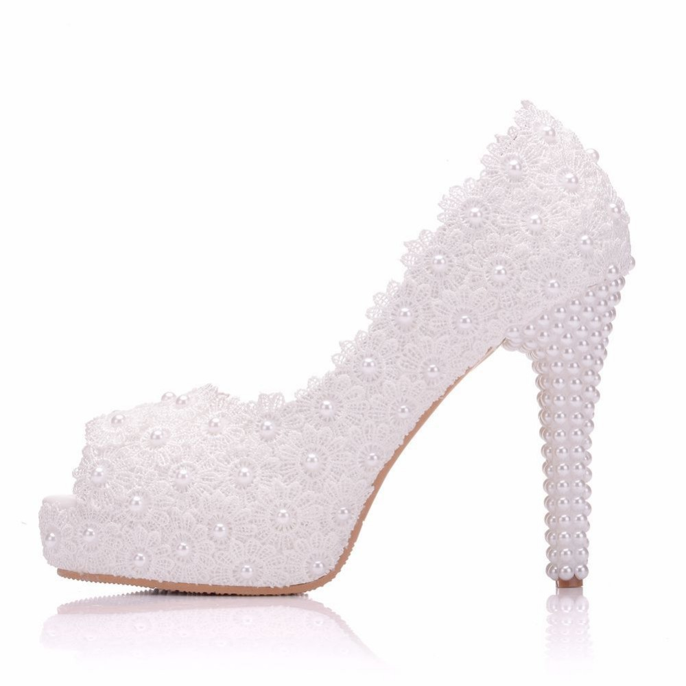 Buy pearl sandals wedding peep toe and get free shipping on AliExpress.com 8f57adf64651