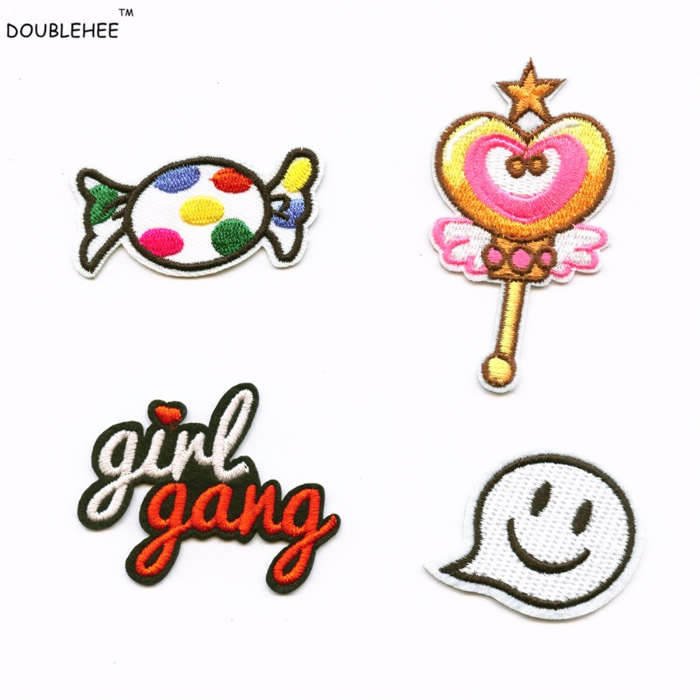 The Red Girl G Patches Iron On Embroidered Patch For Clothing Stick On Badge Paste For Clothes Sew On Bag Pants Popular in USA