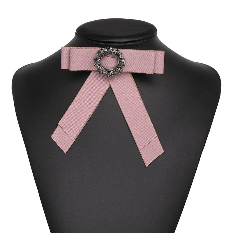 Fashionsnoops особое очарование Дизайн пряжки 6 цветов Классический себе галстук Броши ювелирные изделия ткань лук Броши для Для женщин