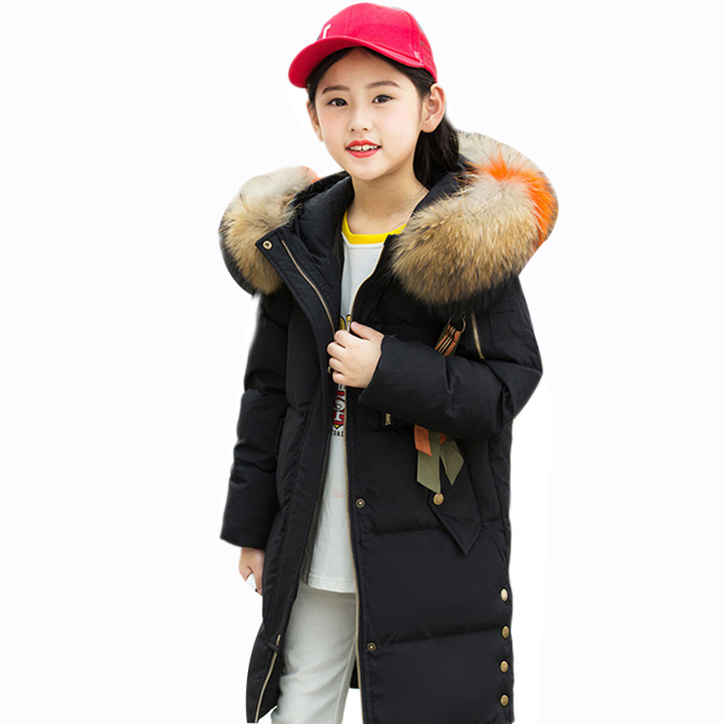 Rlyaeiz Winter Jackets For Girls 2018 Fashion White Duck Down Girls Warm Coat Girls Colorful Fur Collar Hooded Parka OvercoatRlyaeiz Winter Jackets For Girls 2018 Fashion White Duck Down Girls Warm Coat Girls Colorful Fur Collar Hooded Parka Overcoat