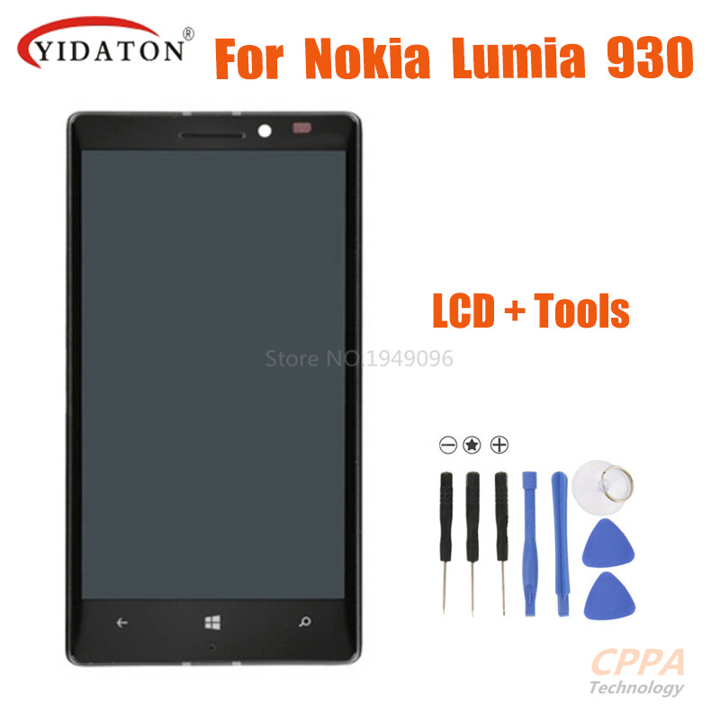Подробнее о For Nokia Lumia 930 LCD Display With Touch Screen Digitizer Assembly For Lumia 930 LCD + Frame Replacement Parts replacement repair part 5 inch for nokia lumia 930 lcd display with touch screen digitizer 1 piece free shipping