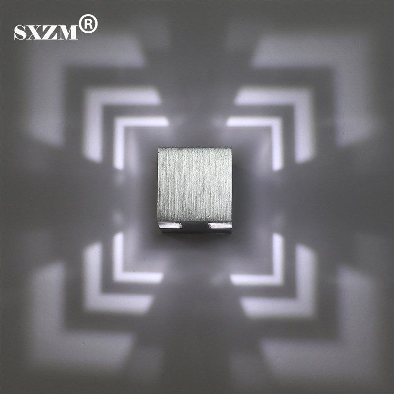 SXZM 3 W led applique da parete in alluminio creativo ha condotto la lampada luci dell'interno per la casa luce a risparmio energetico AC85-265V libero libero