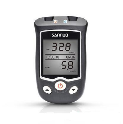 где купить SANNUO EA-11 Blood glucose test instrument uric acid detector homeuric acid test instrument with 50pcs Uric acid test paper дешево