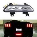 1x Clear Lens 3-IN-1 LED Rear Fog Light (LED Rear fog, Tail/Brake & Reverse Back Up Lamp) For 2015-up Ford Mustang