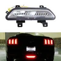 1x lente transparente 3-en-1 LED LUZ ANTINIEBLA TRASERA (LED niebla trasera, cola/freno & marcha atrás de la lámpara de respaldo) para 2015-Up Ford Mustang