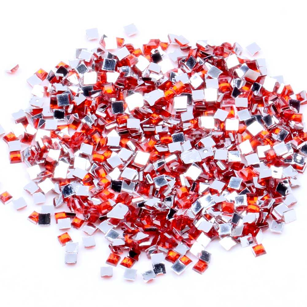 Square 30g 10000pcs Nail Rhinestones for Shoes Clothing Decorations High Shine Sparkling Fashion Nail Art Decorations