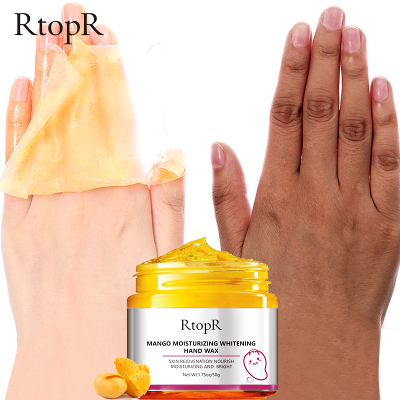 Mango Moisturizing Hand Wax Whitening Skin Hand Mask Repair Exfoliating Calluses Film Anti-Aging Hand Skin Cream 50g 3