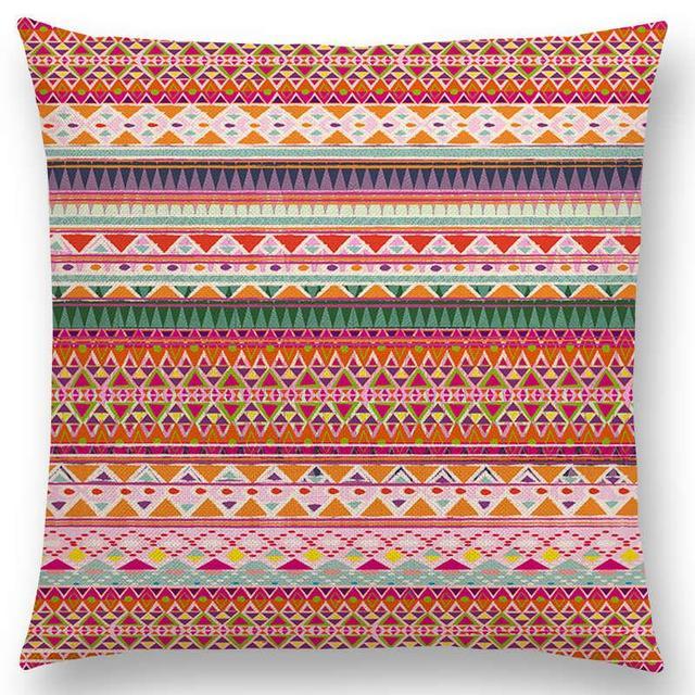 Hippie Boho Acqua Navajo Aiyana Decorative Pattern Cushion Cover SofaPillow Case