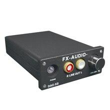 Feixiang FX-AUDIO DAC-X3 Волокна коаксиальный USB декодер 24BIT/192 кГц USB DAC для наушников 192 кГц декодер аудио усилители