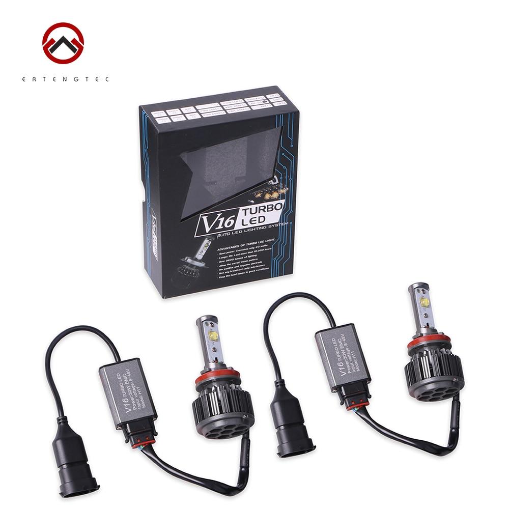 ФОТО LED Headlight Car V16 9005 HB3 / 9006 HB4 / H1 / H4 Hi/Lo / H8 H11 30W 3600LM LED Headlight Bulb Waterproof White C-LED Chip