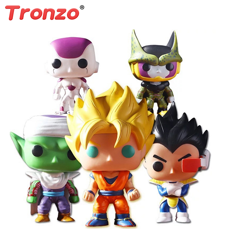 Tronzo POP Dragon Ball Model Toy Son Goku PVC Action Figure Saiyan Vegeta Piccolo Frieza Cell Collection Doll Toys Gift For Boy 26 5cm new hot pvc action figure zerodragon ball super saiyan 4 son goku model doll decoration collection figurine toys for gift