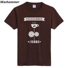 Warhammer Geek T shirt Programmer Fans Cotton O-neck Short Sleeve Tee Shirt Flock Printed Programmer Summer EU Size XXXL T-shirt