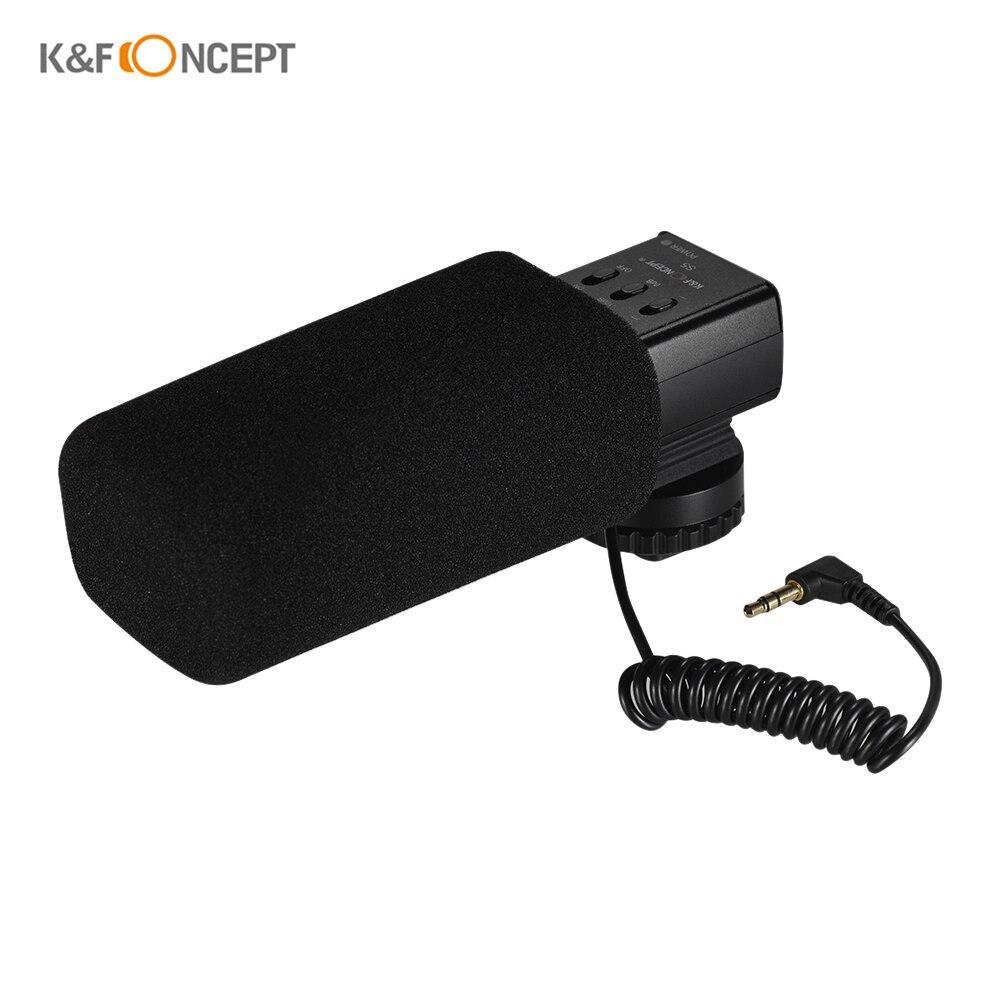 K F CONCEPT S5 Stereo Shotgun Video Interview Microphone On Camera Condenser Mic 3 5mm Plug