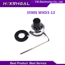 1PCS WXD3-13 3590S precision scale 6.35mm knob potentiometer knob equipped with multi-turn potentiometer 3590S-2