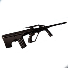 1:3.5 AUG kids Metal Toy Gun Model DIY  model Guns Toy Sniper Rifle Gift for collection Can Not Shoot Boy Gift
