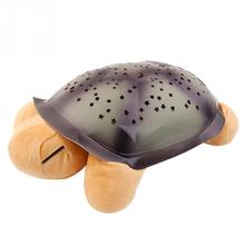 Fashion Cute Turtle Projection Colorful Lamp Night Light with Music Baby Kids Sleep Gift