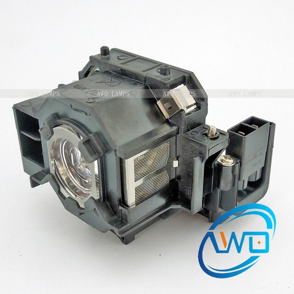 AWO EMP-S5 EMP-S52 EMP-X5 EMP-X52 EMP-S6 EMP-X6 EMP-260 EB-S6 H283 H284A Lampe De Projecteur avec Boîtier pour EPSON
