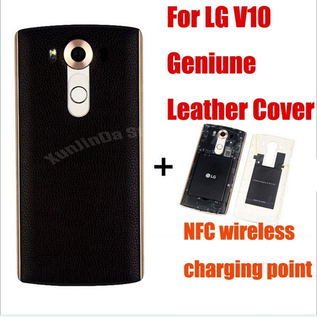 new product ed883 32bfd US $11.02 14% OFF|For LG V10 Original Genuine Leather Qi Wireless Charger  Charging Case Battery Back+Receiver Sticker Support NFC Fast Shipping-in ...