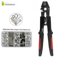 Shaddock Fishing New High Carbon Steel Crimper Sleeves Tool For Fishing Plier With 500PCS Crimp Sleeves