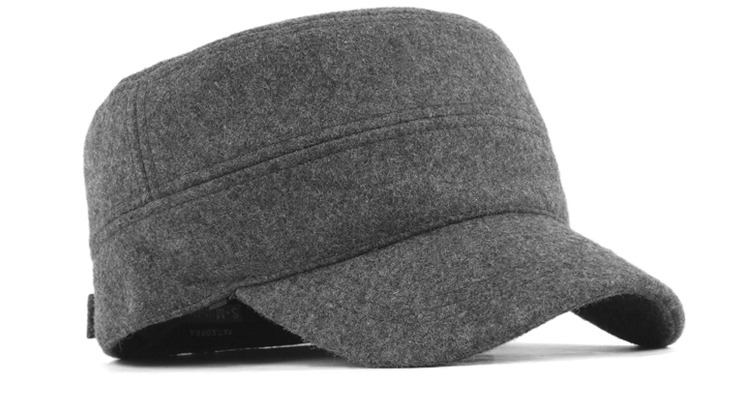 Snapback Male Hat Pitfall Cadet Cap Wool Winter Thermal Ear Thickening Cold  proof Black and Gray Free Shipping Arrival-in Baseball Caps from Apparel ... 9a01b8e9014
