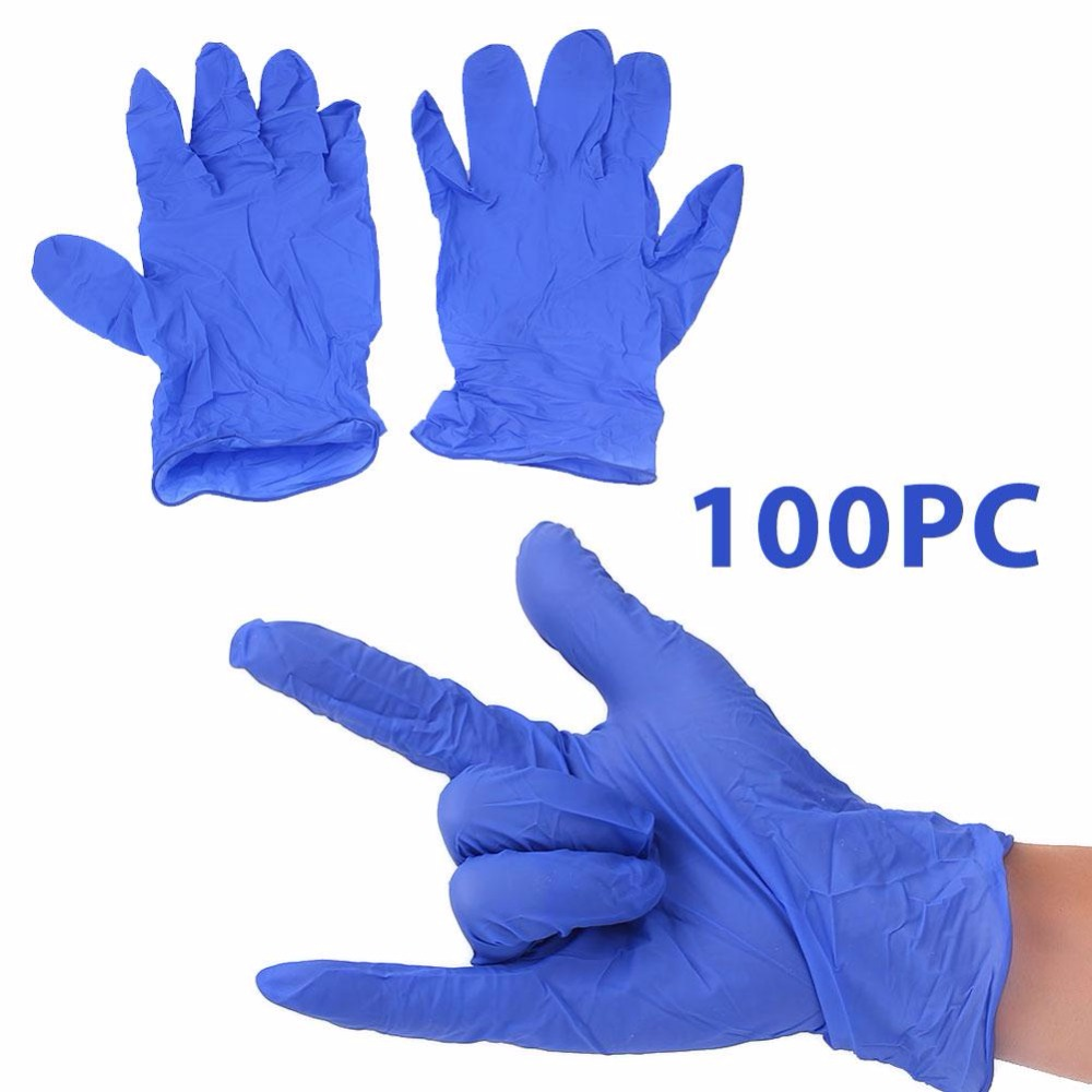 giantree 100Pcs Blue Medical Laboratory Nitrile Latex Gloves Disposable Hand Protetion 10 pairs pack acid and alkali extra strong medical blue free nitrile disposable gloves electronics food medical laboratory