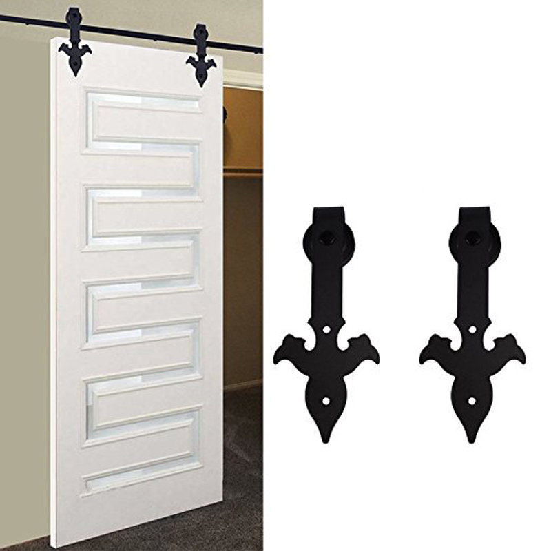 Ship from USA New Arrow Style 12FT Sliding Door Hardware Closet Set Antique Style for Single