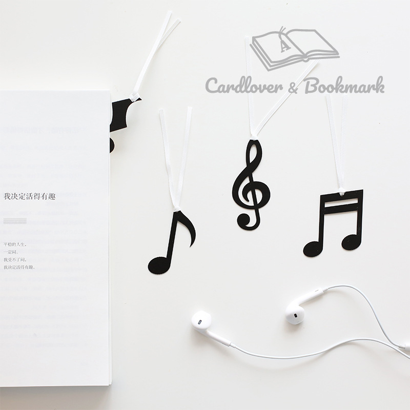 Simple Musical Note Bookmarks Marker Of Page Student Stationery School Office Supply Paper Clip Decor