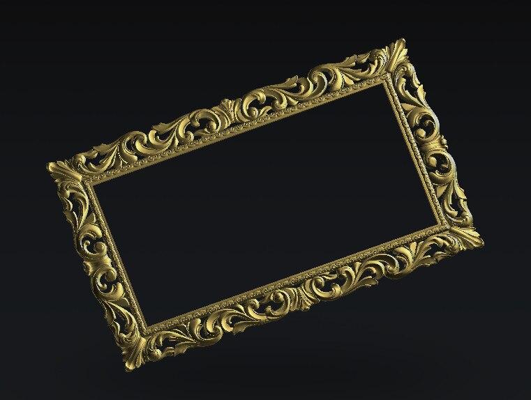 CNC Router Relief Frame Model 3D Model Artcam Type3 Cnc Engraving  STL Format E101