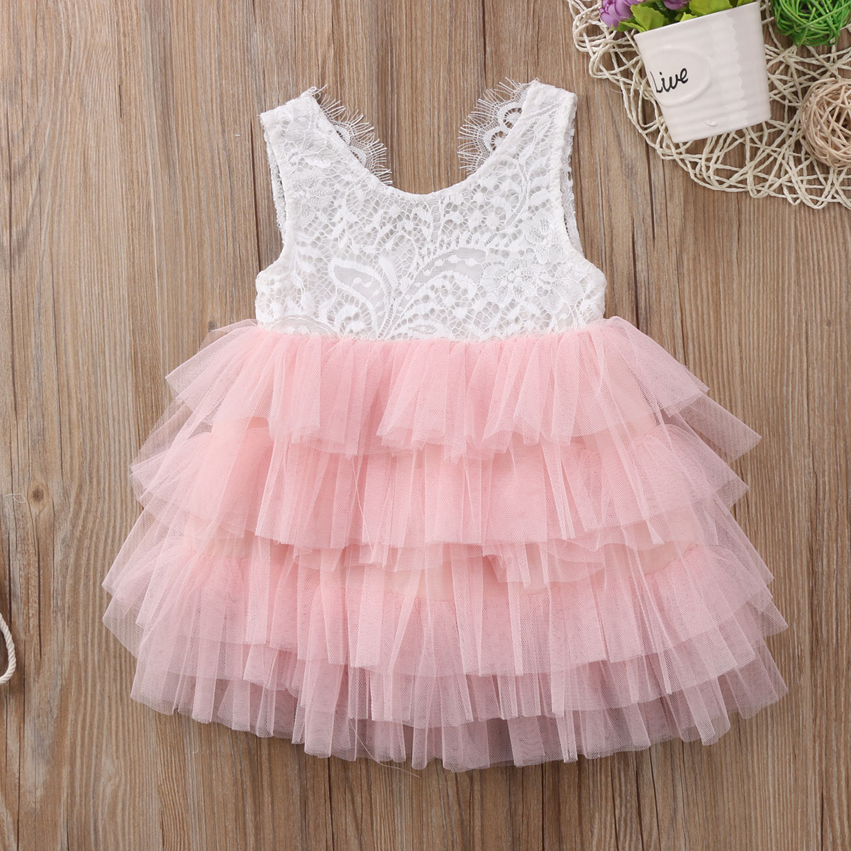 Summer Kids Baby Girl Lace Tutu Dress Sleeveless Vest Princess Party Pageant Dresses Tulle Backless Ball Gown Dress Clothes newborn girls dresses 2017 new summer sleeveless baby girl lace dress ball gown kids dress princess girl children clothes 3ds092