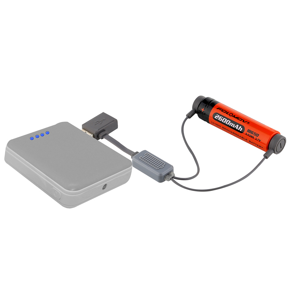 Folomov A1 18650 Battery Charger For Li Ion Batteries Multifunction On Via Usb Magnetic Mini Charging With Power Bank Function In Portable Lighting