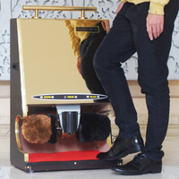 Fully Automatic Induction Rubbing Shoes Machine Hotel Home Leather Shoes Care Tool Home Earthly Gold Electric